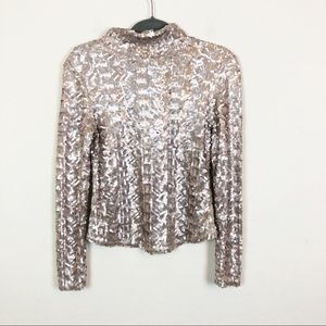 Intimately Free People | Full Sequin Mock Neck Top